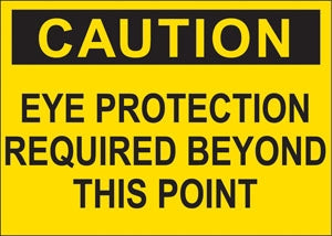 """Caution Eye Protection"" Decal"