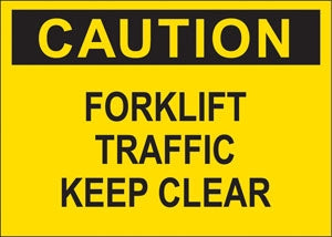 """Caution Forklift Traffic"" Decal"