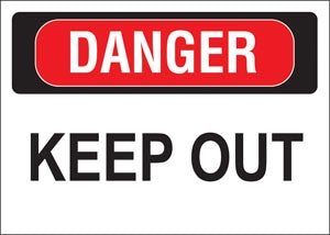 "Decal- ""Danger Keep Out"""