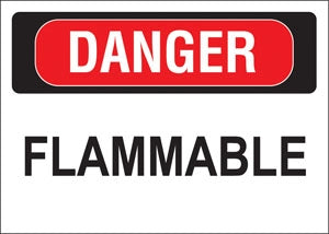 """Danger Flammable"" Decal"