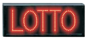 """Lotto"" Red LED Sign, Flashing or Continuous On Capability"