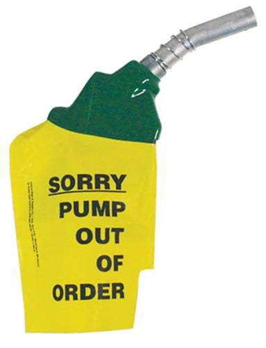 """Sorry Pump Out Of Order"" Plastic Nozzle Sleeve, 6 per Package"