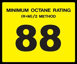 Octane Rating Decal- Standard 88