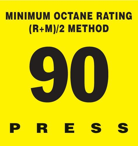 GILBARCO ENCORE 300 Octane Rating Decal 90