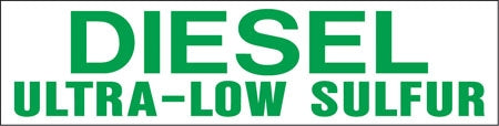"Pump Decal- Green on White, ""DIESEL Ultra-Low Sulfur"""