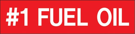 "Pump Decal- White on Red, ""#1 Fuel Oil"""