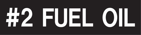 "Pump Decal- White on Black, ""#2 Fuel Oil"""