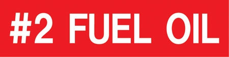 Pump Decal- White on Red, #2 Fuel Oil""