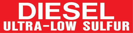 "Pump Decal- White on Red, ""DIESEL Ultra-Low Sulfur"""