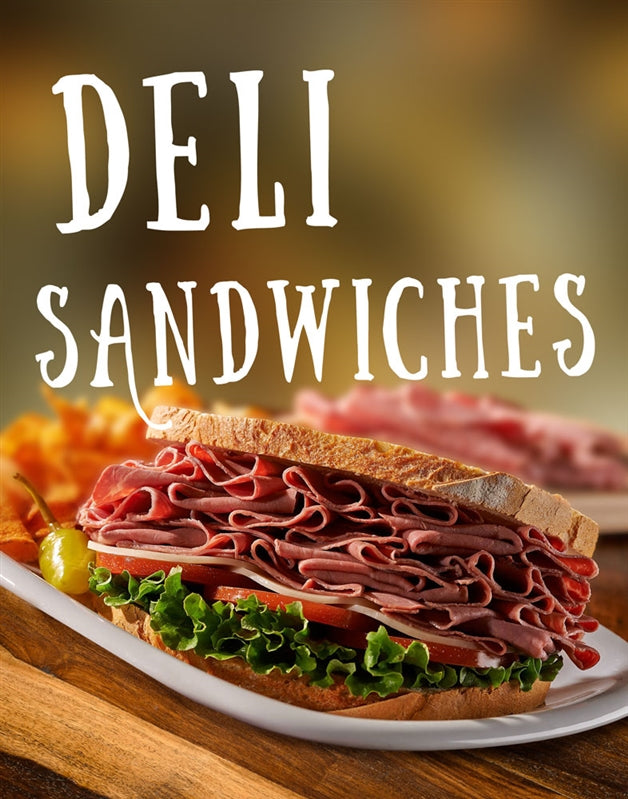 Hungry? Try this Scrumptious Deli Sandwich Sign!