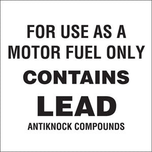 Contains Lead antiknock compounds