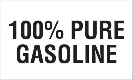 "Decal- ""100% Pure Gasoline"""