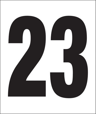 "Pump Decal- Black on White, ""Number 23"""