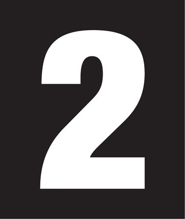 "Pump Decal- White on Black, ""Number 2"""