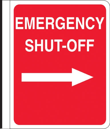"Side Mount Pole Sign- ""Emergency Shut Off"""