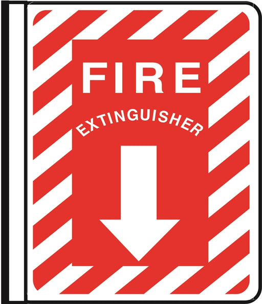 """Fire Extinguisher"" Side Mounted Pole Sign"