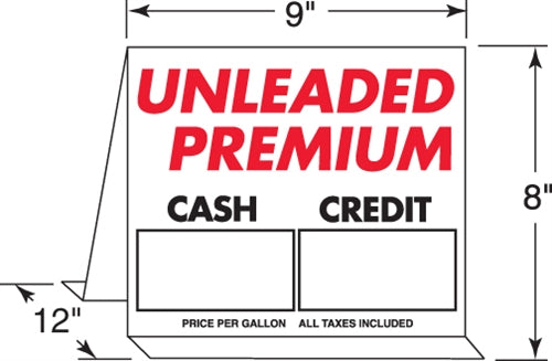 Cash/Credit Aluminum Tent Sign