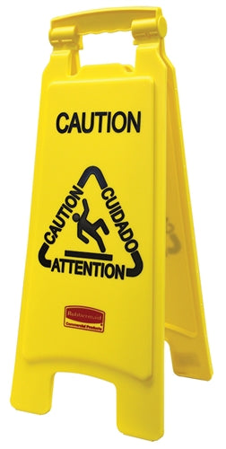 "Multilingual Floor Sign- ""Caution"""