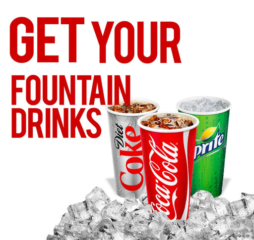 "9.375"" x 8.75"" Insert ""Fountain Drinks"""