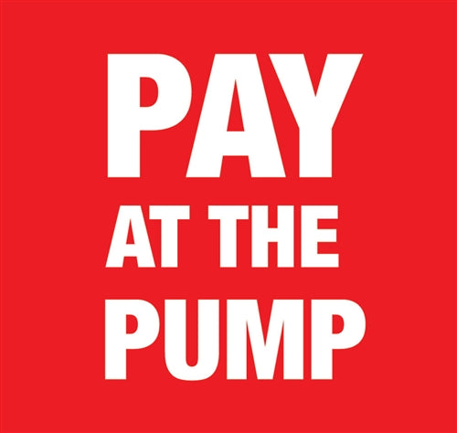 "9.375"" x 8.75"" Insert ""Pay At The Pump"""