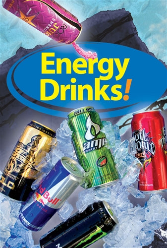 "Reusable Static Cling- ""Energy Drinks"""