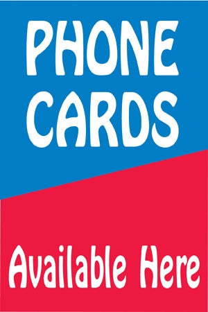 "Reusable Static Cling- ""Phone Cards"""