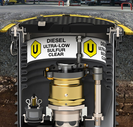 "Storage Tank Collar- ""Diesel Ultra Low Sulfur Clear"""