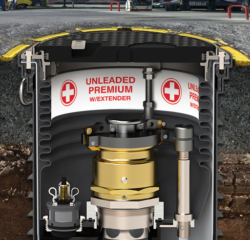 "Storage Tank Collar- ""Unleaded Premium With Extender"""