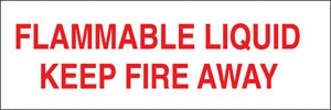 "Truck Decal- ""Flammable Liquid Keep Fire Away"""