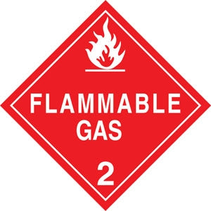 "10.75"" Square Truck Placard- ""Flammable Gas"" Class 2"