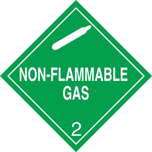 "10.75"" Square Truck Placard- ""Non-Flammable Gas"" Class 2"
