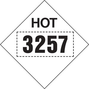 "10.75"" Square Truck Placard ""HOT 3257"""