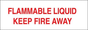 "Flammable Liquid Keep Fire Away- 13""w x 4.5""h Truck Decal"