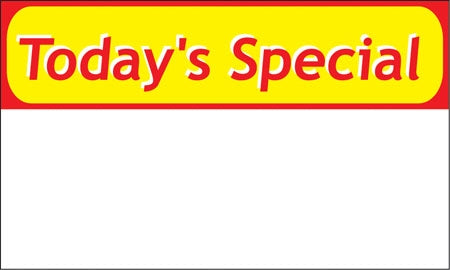 "Pump Topper- ""Today's Special"""