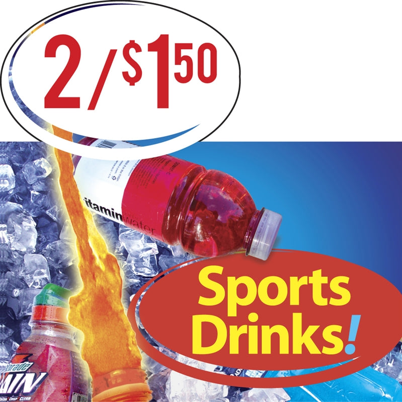 "Price Burst Insert- ""Sports Drinks!"""