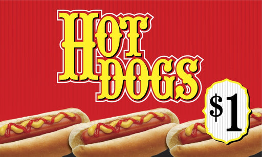 Hot Dogs Price Insert
