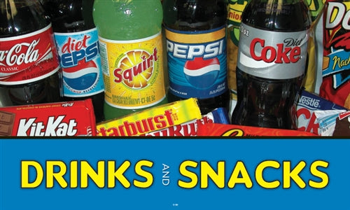 "Pump Topper- ""Drinks And Snacks"""