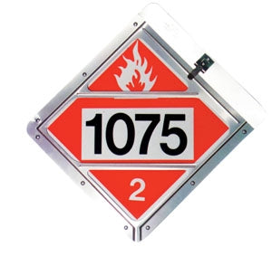 Aluminum Slide-In Truck Placard