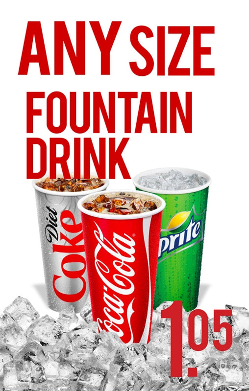 Fountain Drinks Price Insert