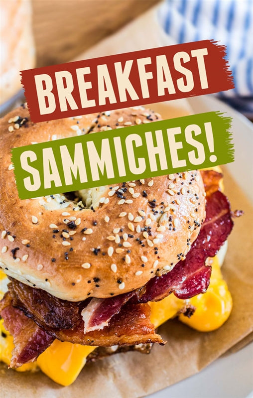 "Breakfast Sammiches!- 28"" x 44"" WindMaster Insert"