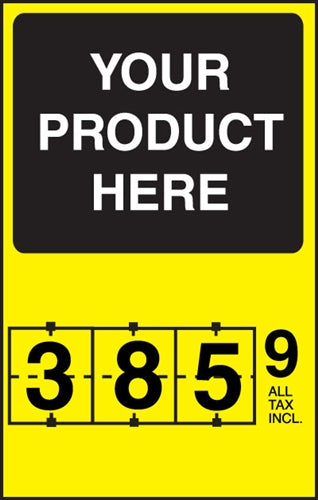 "Insert- ""Your Product Here"" Single Price Flip-Sign"
