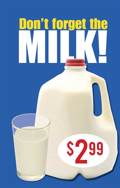 "Price Insert- ""Milk"""