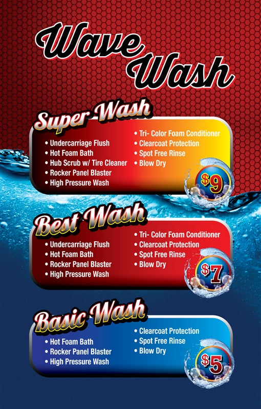 Wave Wash- Windmaster Menu Insert
