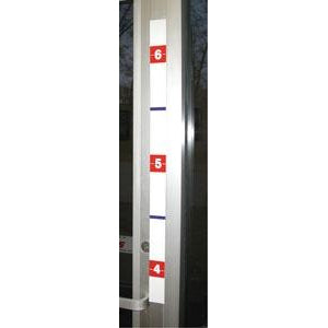 "32""h Height Indicator Clearly Marked from 4' to 6' in bright red and blue 2 Decals Per Set"