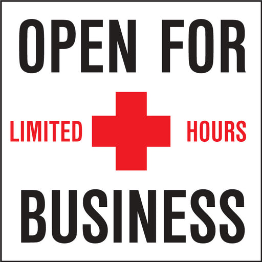 Open For Business Limited Hours