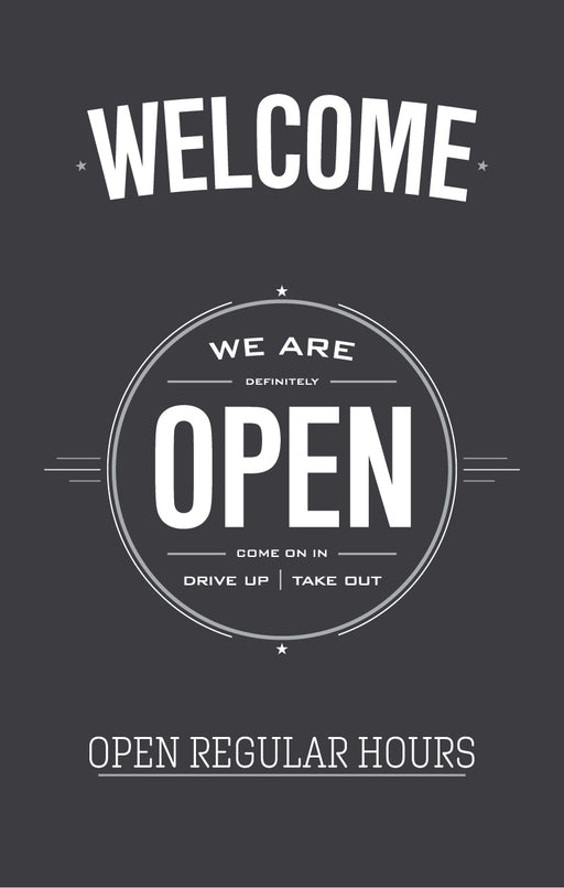 Welcome We Are Open