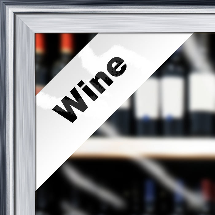 """Wine"" Cooler Door Decal"
