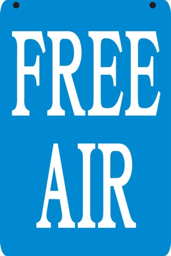 "Aluminum Pole sign- ""FREE AIR"""