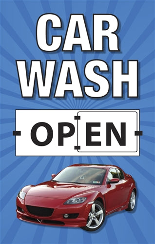 "28"" x 44"" Flip Panel- Car Wash Open/Closed"