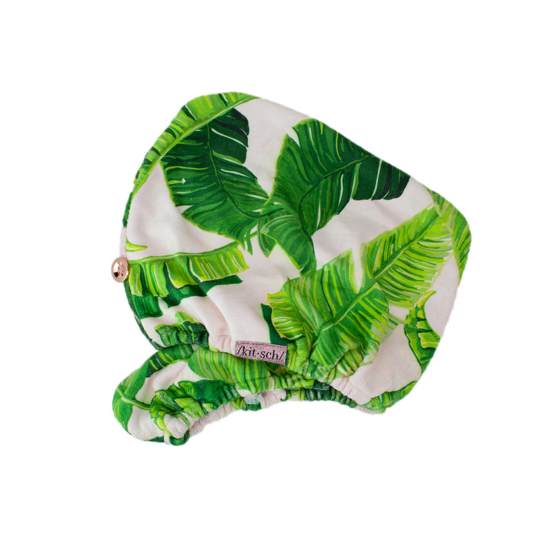 Microfiber Hair Towel - Palm Print